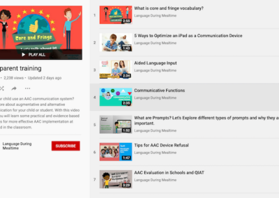 AAC – Parent Youtube Trainings