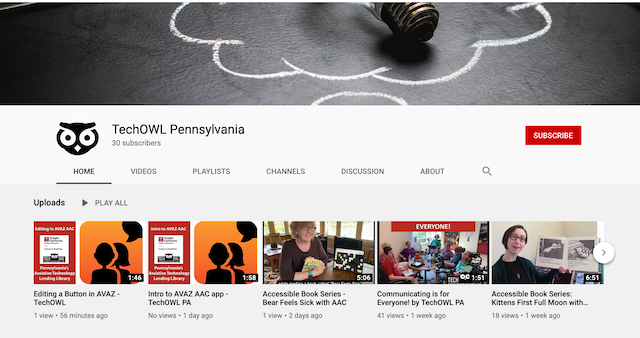 Augmentative and Alternative (AAC) Video Collection