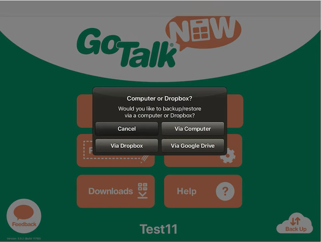 Go Talk Now – How to Back Up Vocabulary Using Dropbox or Google Drive
