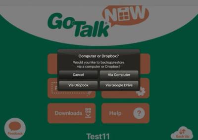 Go Talk Now – How to Restore Vocabulary